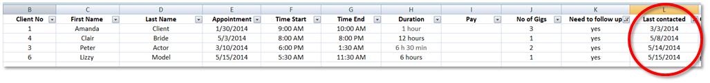 Excel-log